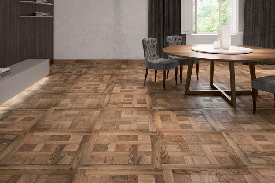 Modello di pavimento in legno per cucina classica n.7