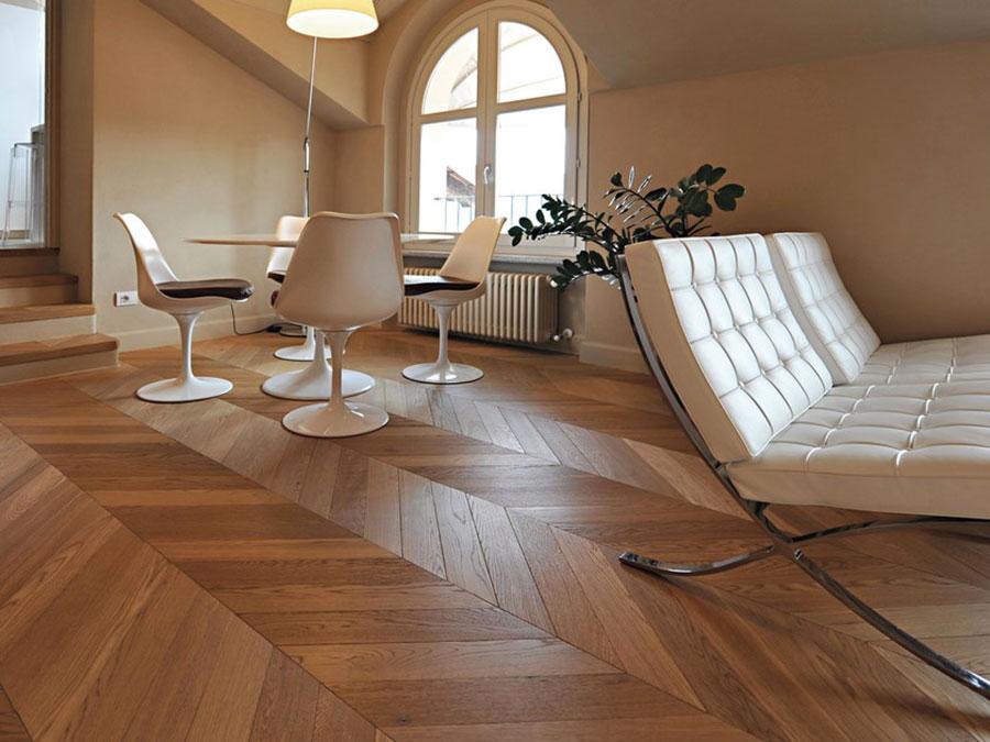 Modello di pavimento in legno per cucina classica n.8