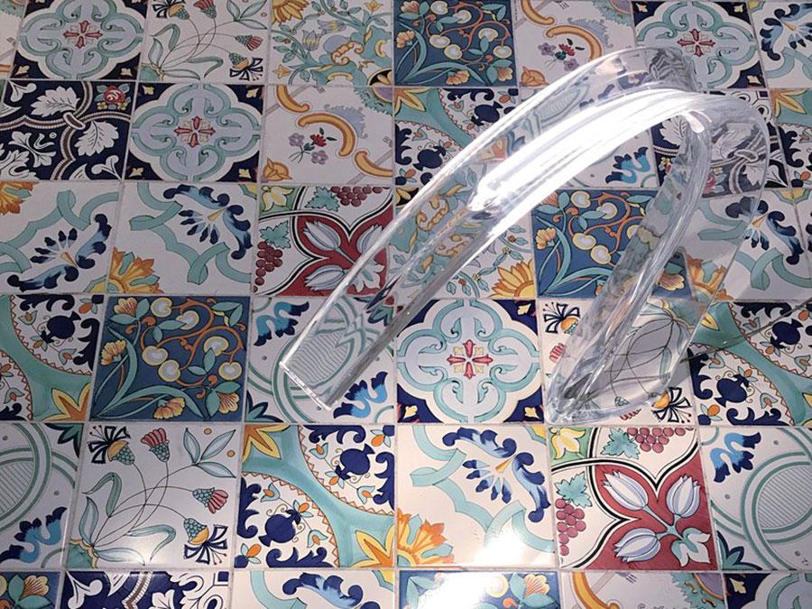 Modello di pavimento in maiolica per cucina classica n.2