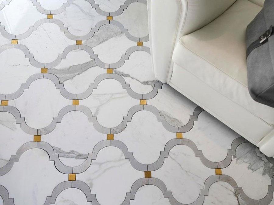 Modello di pavimento in marmo per cucina classica n.2