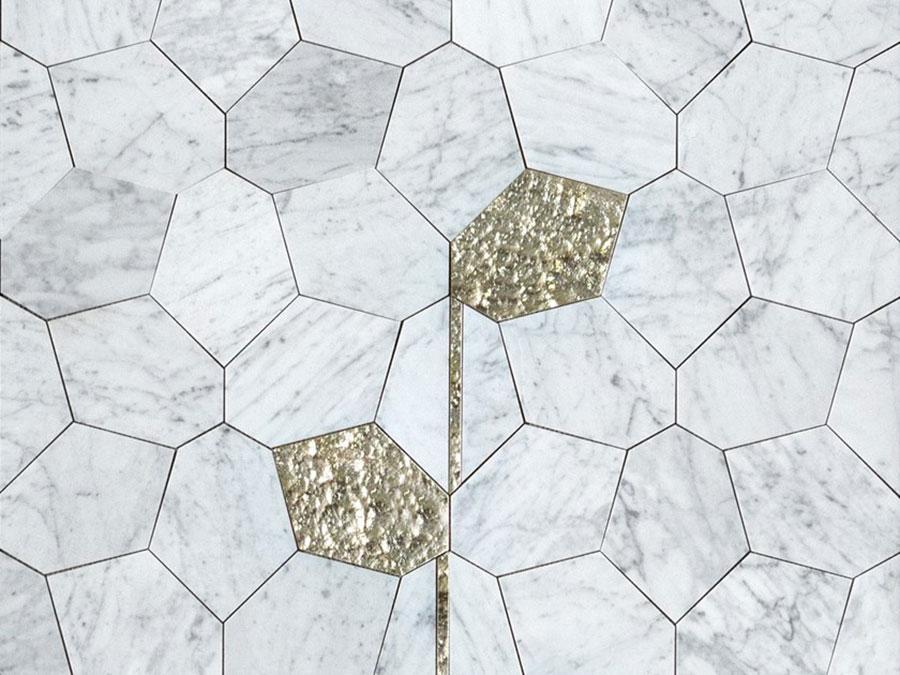 Modello di pavimento in marmo per cucina classica n.3