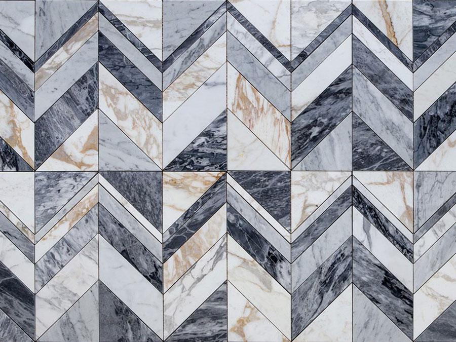 Modello di pavimento in marmo per cucina classica n.4