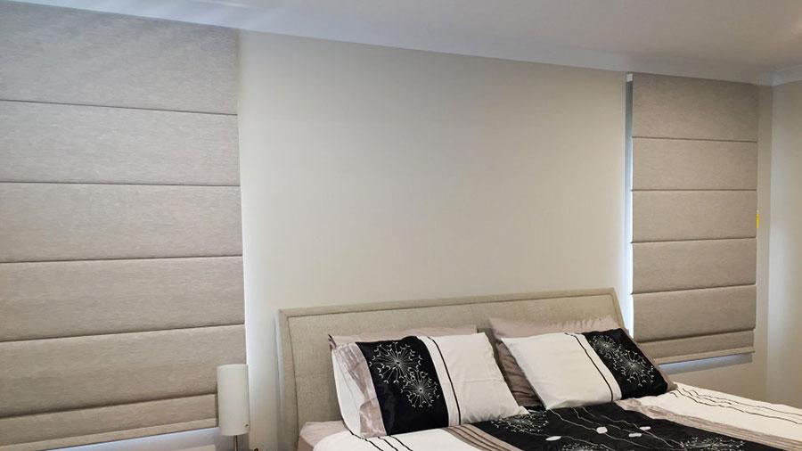 Modello di tende a pacchetto per camera da letto moderna n.02