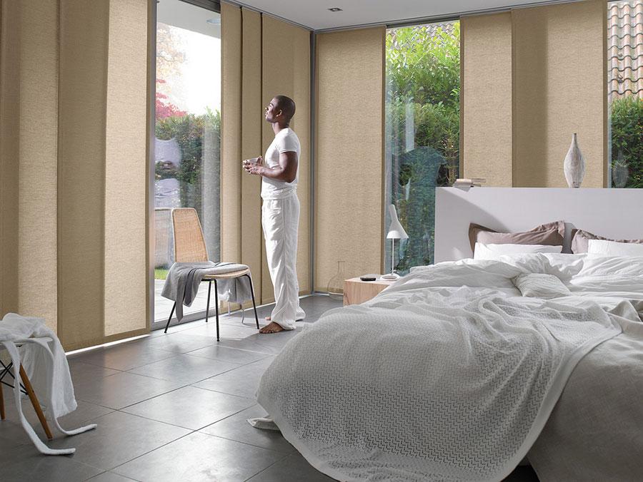 Modello di tende a pannello per camera da letto moderna n.01