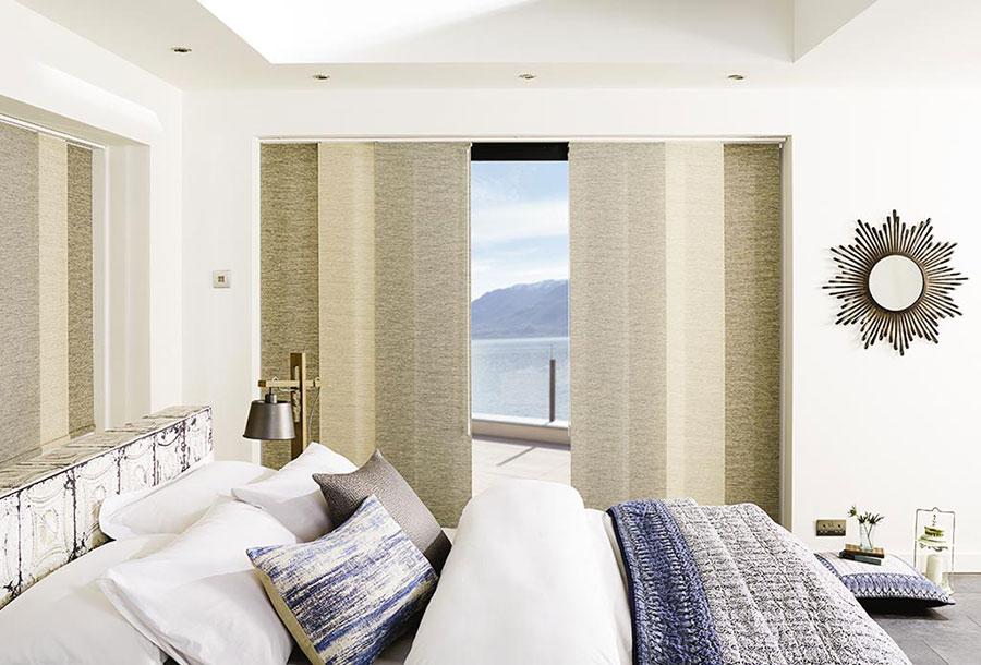 Modello di tende a pannello per camera da letto moderna n.04