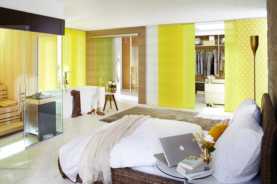 Modello di tende a pannello per camera da letto moderna n.06