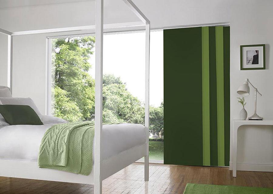 Modello di tende a pannello per camera da letto moderna n.07