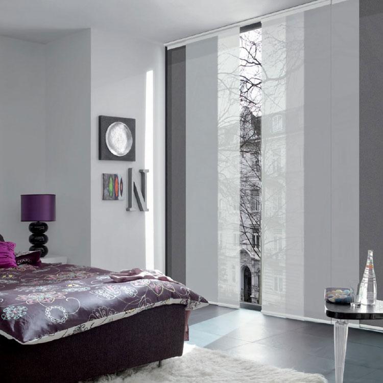 Modello di tende a pannello per camera da letto moderna n.08