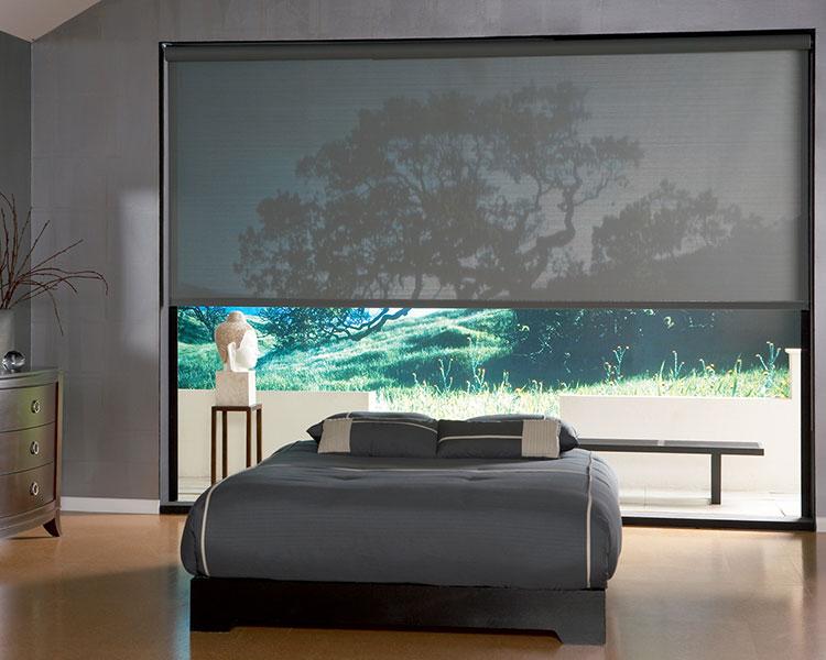 Modello di tende a rullo per camera da letto moderna n.01
