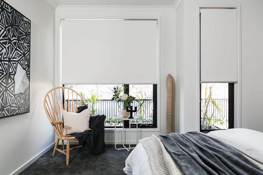 Modello di tende a rullo per camera da letto moderna n.02