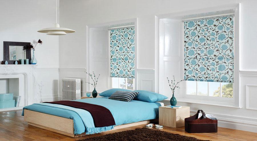 Modello di tende a rullo per camera da letto moderna n.03