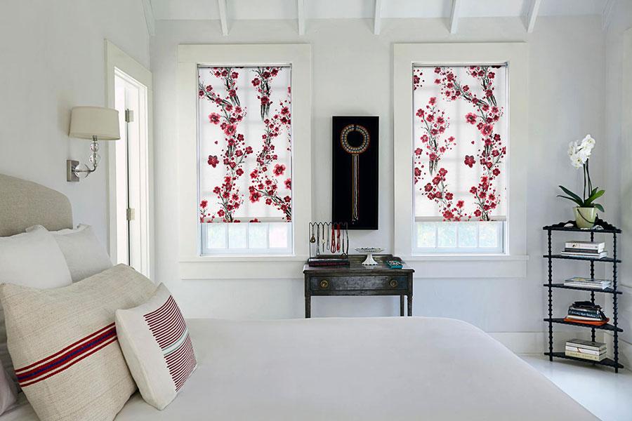 Modello di tende a rullo per camera da letto moderna n.04