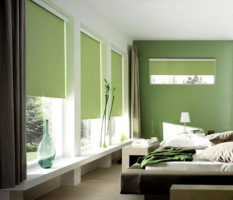 Modello di tende a rullo per camera da letto moderna n.06