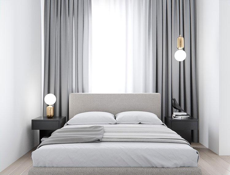 Modello di tende a teli per camera da letto moderna n.01