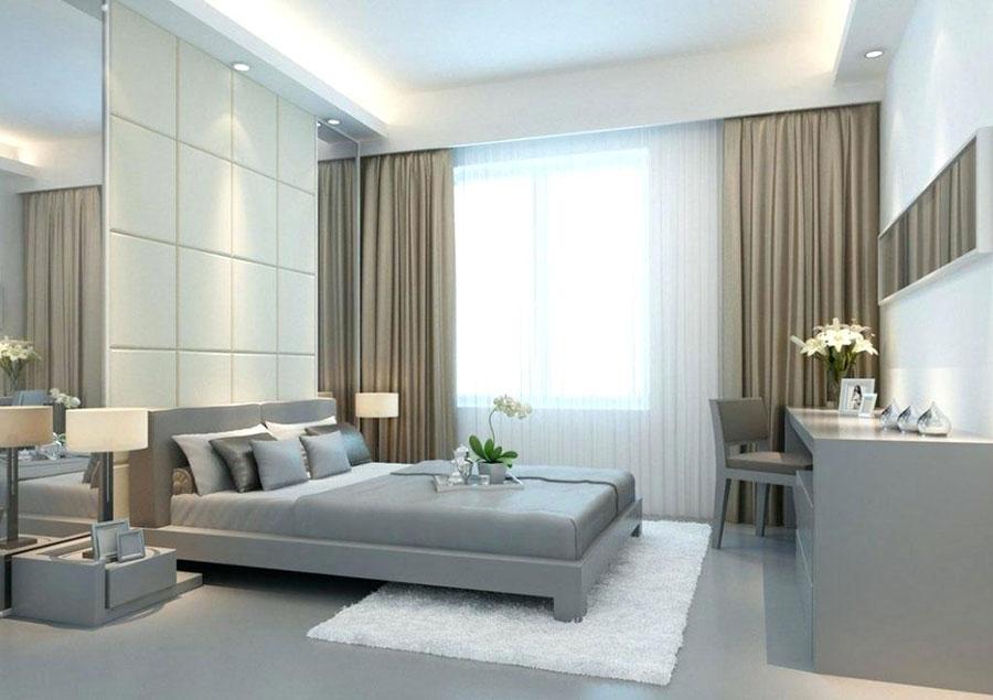 Modello di tende a teli per camera da letto moderna n.02