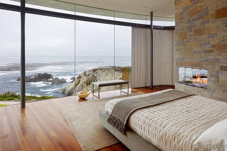 Modello di tende a teli per camera da letto moderna n.03