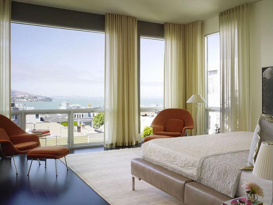 Modello di tende a teli per camera da letto moderna n.04