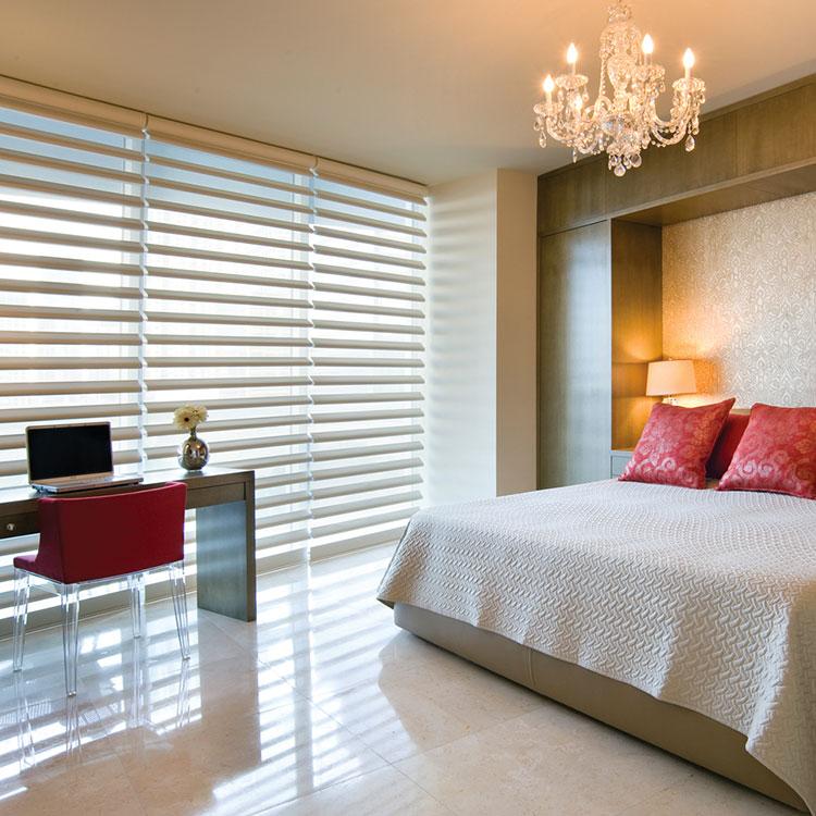 Modello di tende veneziane per camera da letto moderna n.01