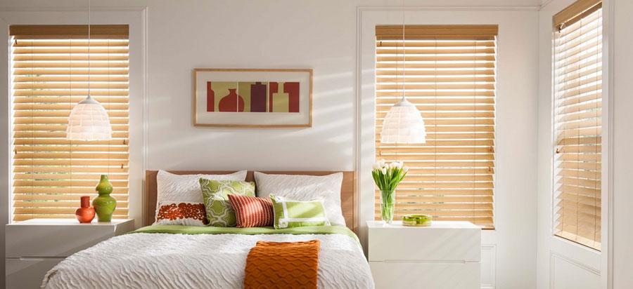 Modello di tende veneziane per camera da letto moderna n.04