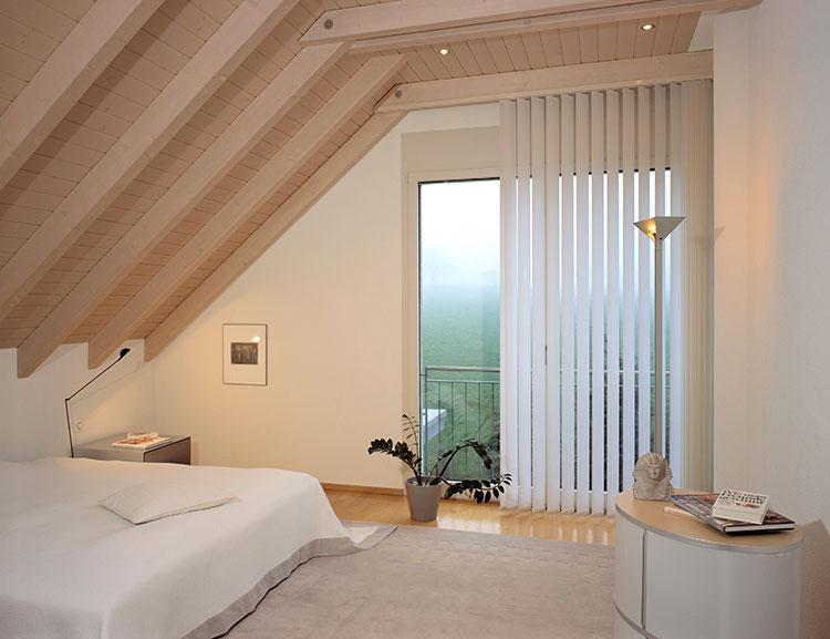 Modello di tende verticali per camera da letto moderna n.01