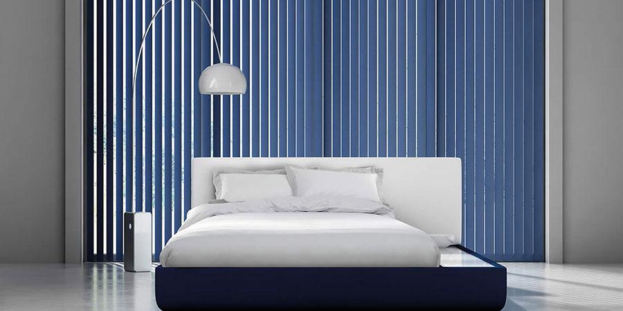 Modello di tende verticali per camera da letto moderna n.02