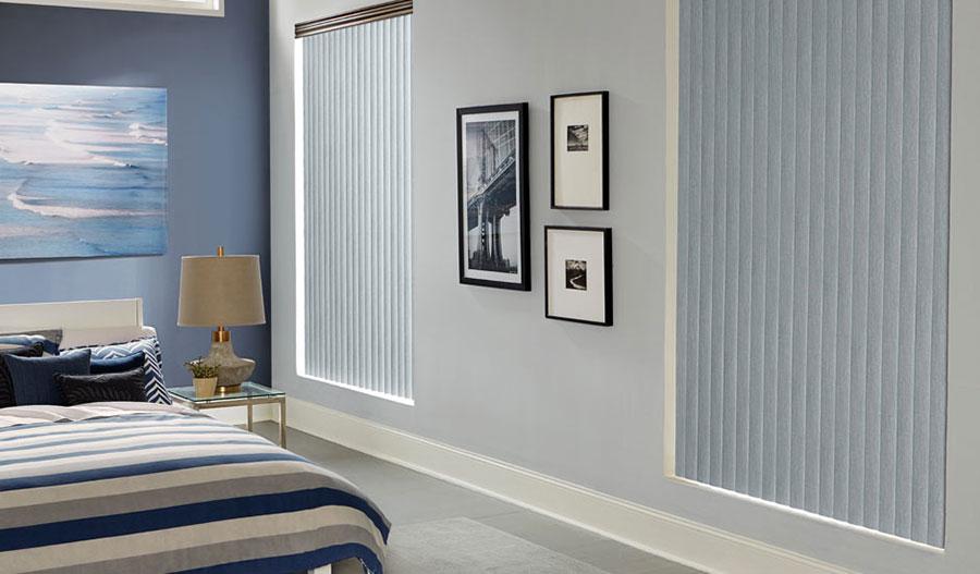 Modello di tende verticali per camera da letto moderna n.03