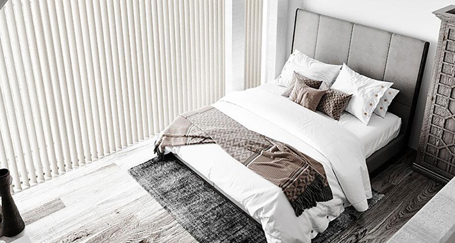 Modello di tende verticali per camera da letto moderna n.04