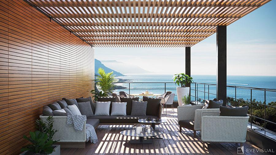 Terrazzo moderno 30 idee per un arredamento di design for Arredi per terrazzo