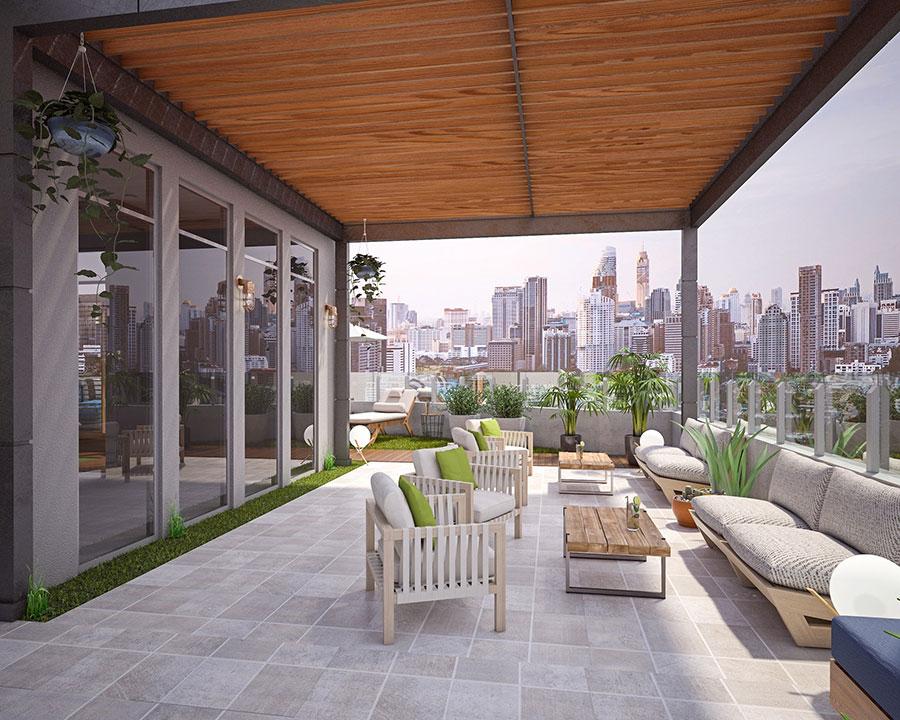 Idee per arredare un terrazzo moderno n.02