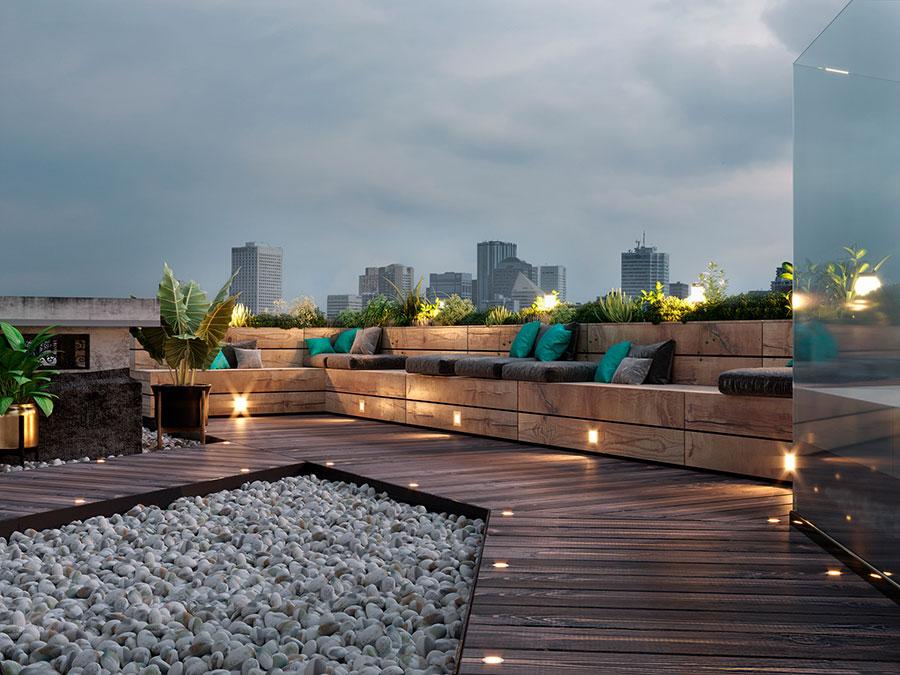 Idee per arredare un terrazzo moderno n.08