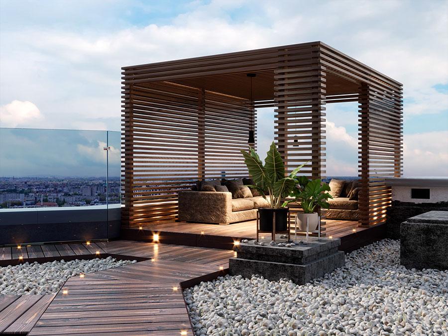 Idee per arredare un terrazzo moderno n.09