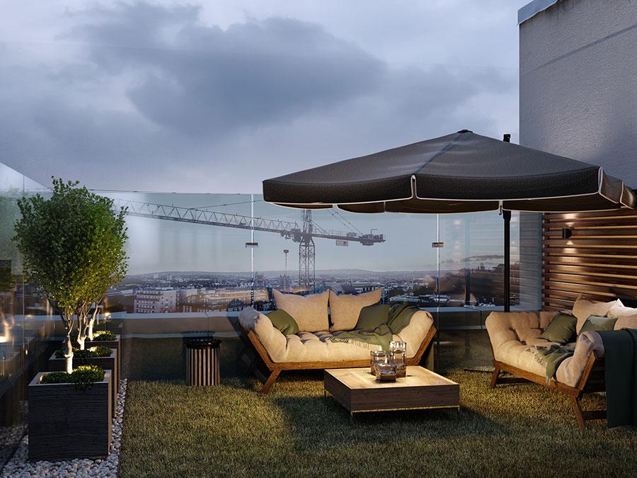 Idee per arredare un terrazzo moderno n.10