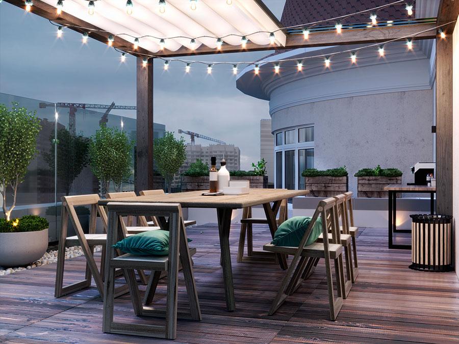 Idee per arredare un terrazzo moderno n.11