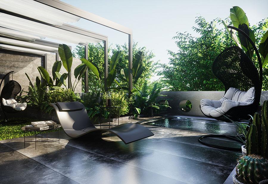 Terrazzo moderno 30 idee per un arredamento di design for Oggetti di arredamento moderno