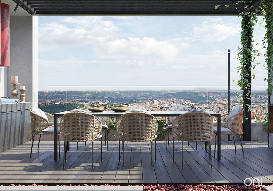 Idee per arredare un terrazzo moderno n.17