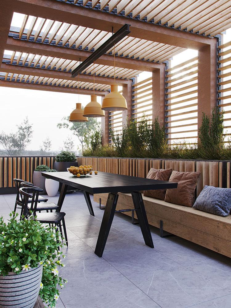 Idee per arredare un terrazzo moderno n.19