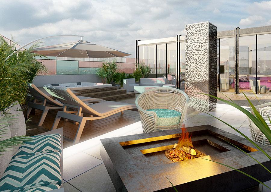 Idee per arredare un terrazzo moderno n.24