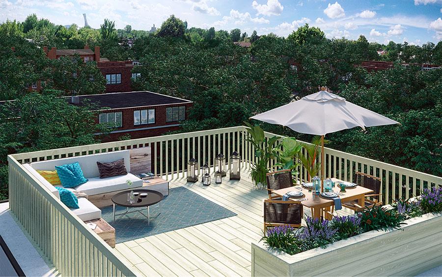 Idee per arredare un terrazzo moderno n.29