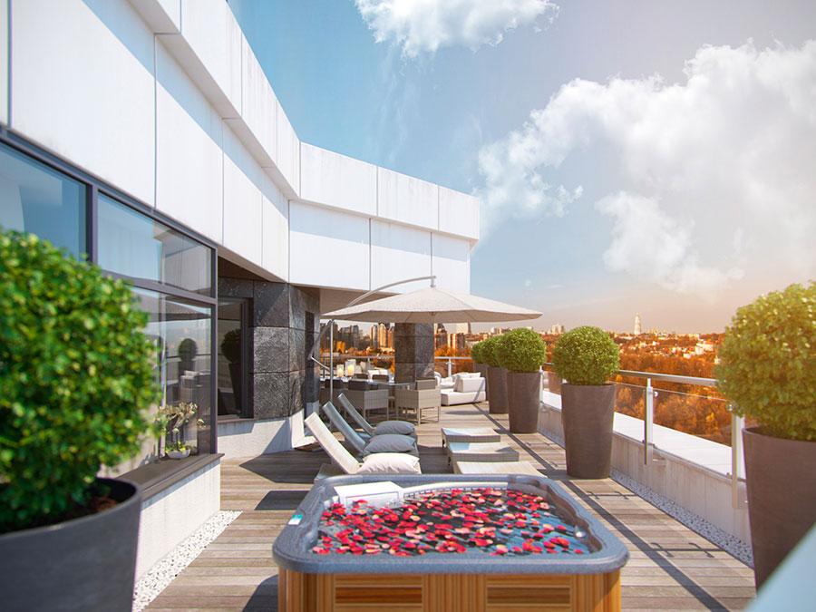 Idee per arredare un terrazzo moderno n.30