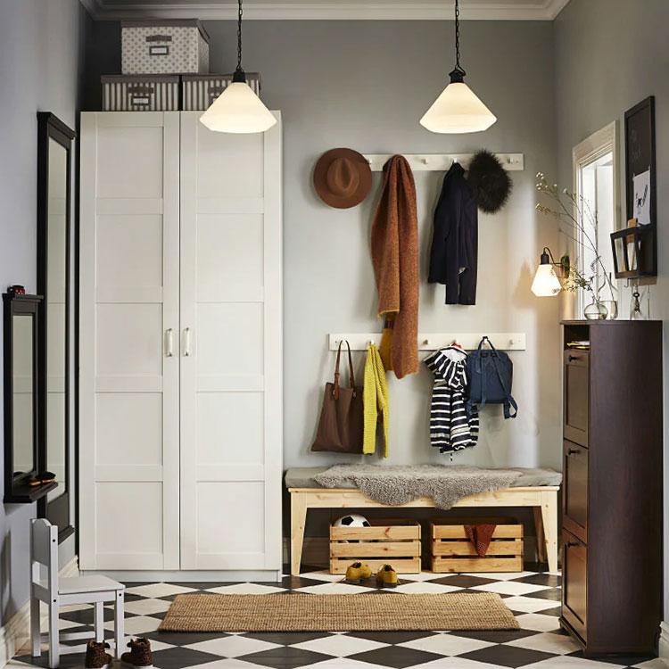 Idee per arredare un ingresso classico con Ikea n.04