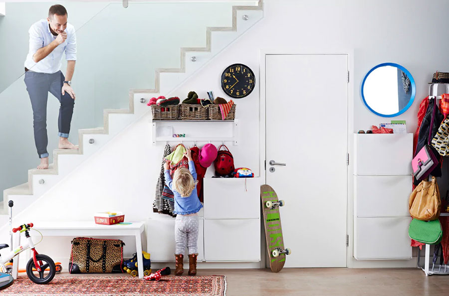 Idee per arredare un ingresso moderno con Ikea n.08
