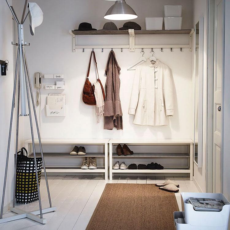 Modello di panca per ingresso Ikea 3