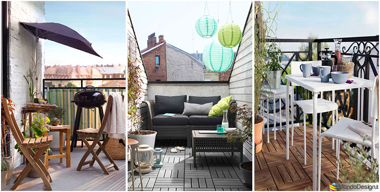 Come arredare un balcone piccolo con Ikea