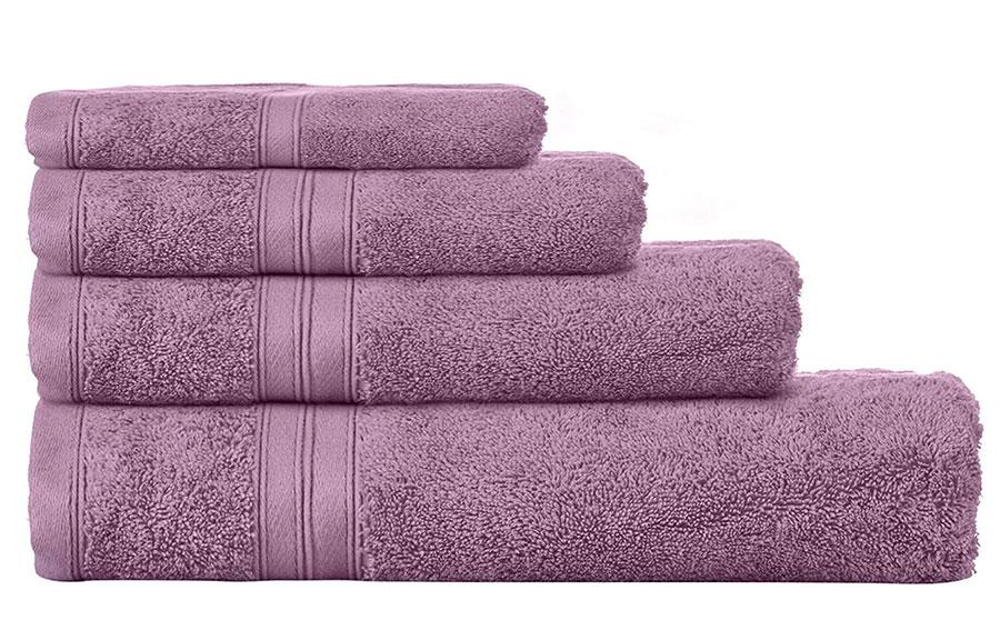 Idee asciugamani color malva
