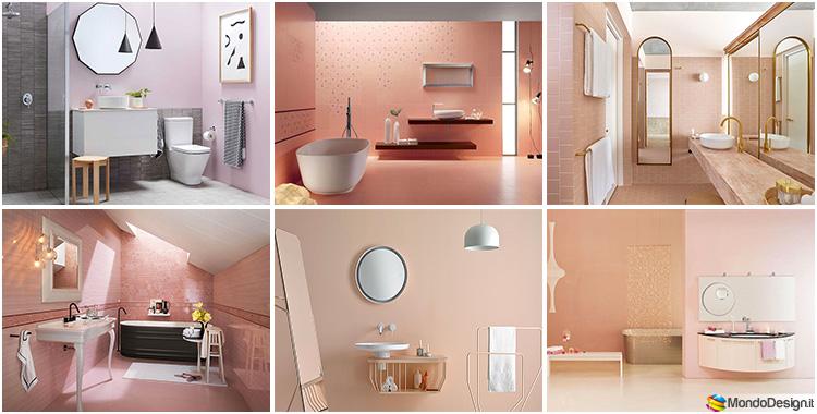 Bagno rosa idee per arredi piastrelle rivestimenti e