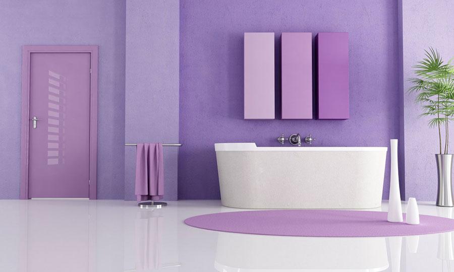 Idee bagno color malva