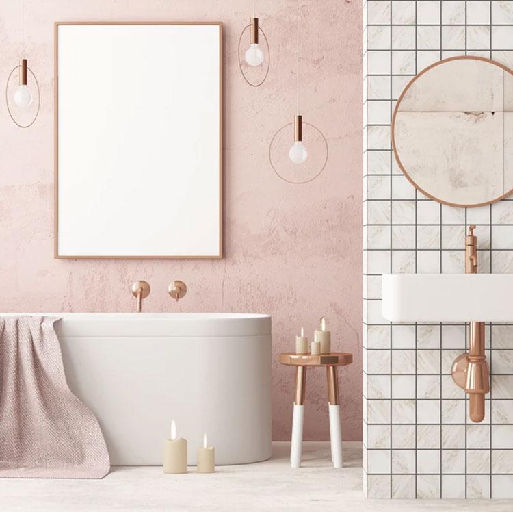 Arredi per bagno rosa 02