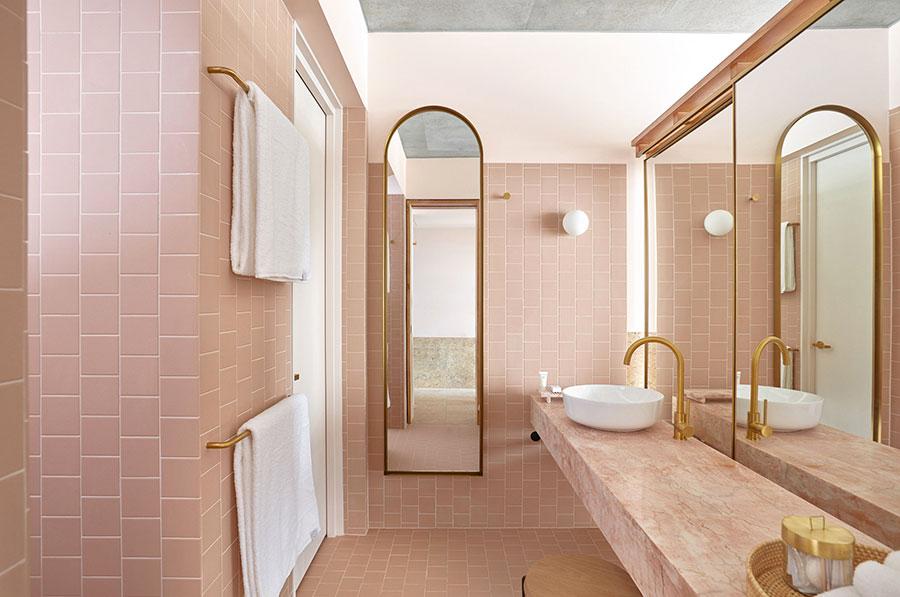 Arredi per bagno rosa 06