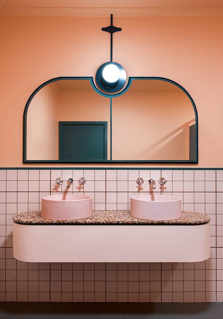 Arredi per bagno rosa 08