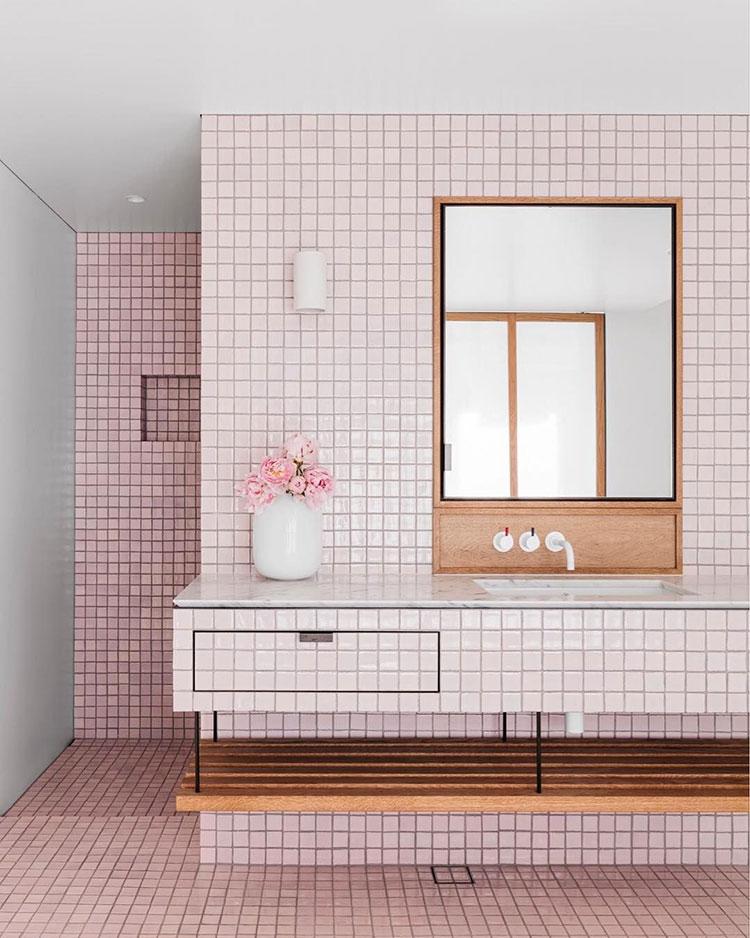 Arredi per bagno rosa 09